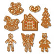 Gingerbread all — Stock Vector
