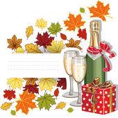 Autumn holiday — Stock Vector
