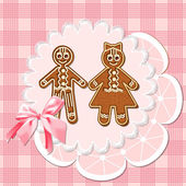 Gingerbread mans — Stock Vector