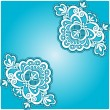 Blue floral napkin — Stock Vector