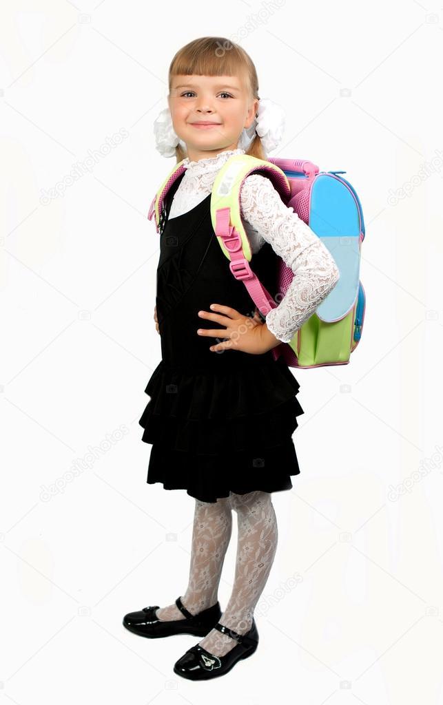 chica blanca estudiante