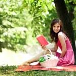 Cute girl enjoying in nature — Stock Photo