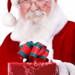 Santa with giftbox — Stock Photo #12630342