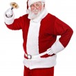 Happy Santa with bell — Stock Photo #12630346