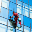 Stock Photo: Window washer