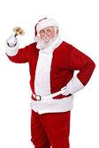 Happy Santa with bell — Foto de Stock