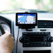 Travel by car with gps — Stock Photo