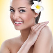 Portrait of spa beauty woman — Stock Photo #13368514