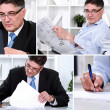 Collage of businessman — Stock Photo