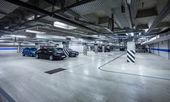 Parking garage, underground interior — Stock Photo