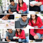 Couple paying bill — Stock Photo