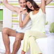 Royalty-Free Stock Photo: Happy  couple with pregnancy test