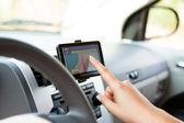 Using Navigation Device — Stock Photo