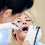 Dental Work on Teen - Teeth Polishing — Stock Photo