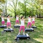 Group of women having fitness class — Stock Photo