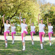 Women group in aerobics class. — Stock Photo #14555099
