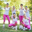 Group of sorty girls team — Stock Photo