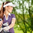 Female golfer — Stock Photo #14555291