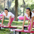Group of aerobic women — Stock Photo #14555371