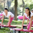 Stock Photo: Group of aerobic women