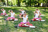 Stretching group — Stock Photo