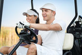 Glücklich Golf-paar — Stockfoto