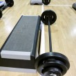 Lifting weights and  steppers — 图库照片
