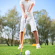 Man on  golf course - Foto de Stock