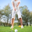 Man on  golf course - Foto Stock