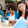 Group of student learning together — Stock Photo