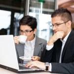 Business using laptop — Stock Photo