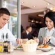 Business lunch restaurant eating meal — Stock Photo #20181737