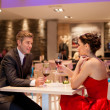 Stock Photo: Romantic couple in restaurant