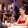 Stock Photo: Couple enjoying in a restaurant