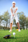 Man on golf course — Stock Photo