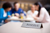 Reserved table at nice restaurant — Stock Photo