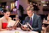 Jantar romântico — Foto Stock
