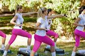 Women doing exercise — Stock Photo