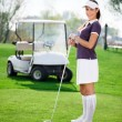 Woman playing golf — Stock Photo #24888471