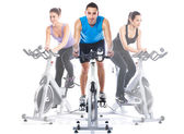Spinning training — Stockfoto