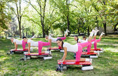 Exercise women — Stock Photo
