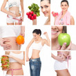 Healthy lifestyle collage — Stock Photo #24890253