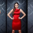 Collage of Beautiful fashion model - Stock Photo