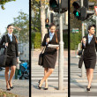 Collection of businesswoman — Stock Photo