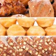 Collage of pastry — Stock Photo