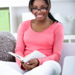 Student woman learning at home — Stock Photo #24890945