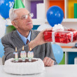 Gift for 100th birthday - Stock Photo