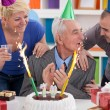 Stock Photo: Party for 70th birthday