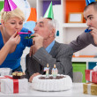 Party for celebrating 70th birthday — Stock Photo #24891933