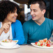 Young couple on lunch — Stock Photo